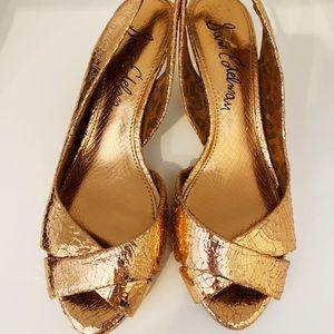 Sam Edelman rose gold sling back sandal heels